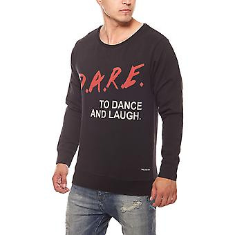 SOMeWEaR dare men's sweater black with front print