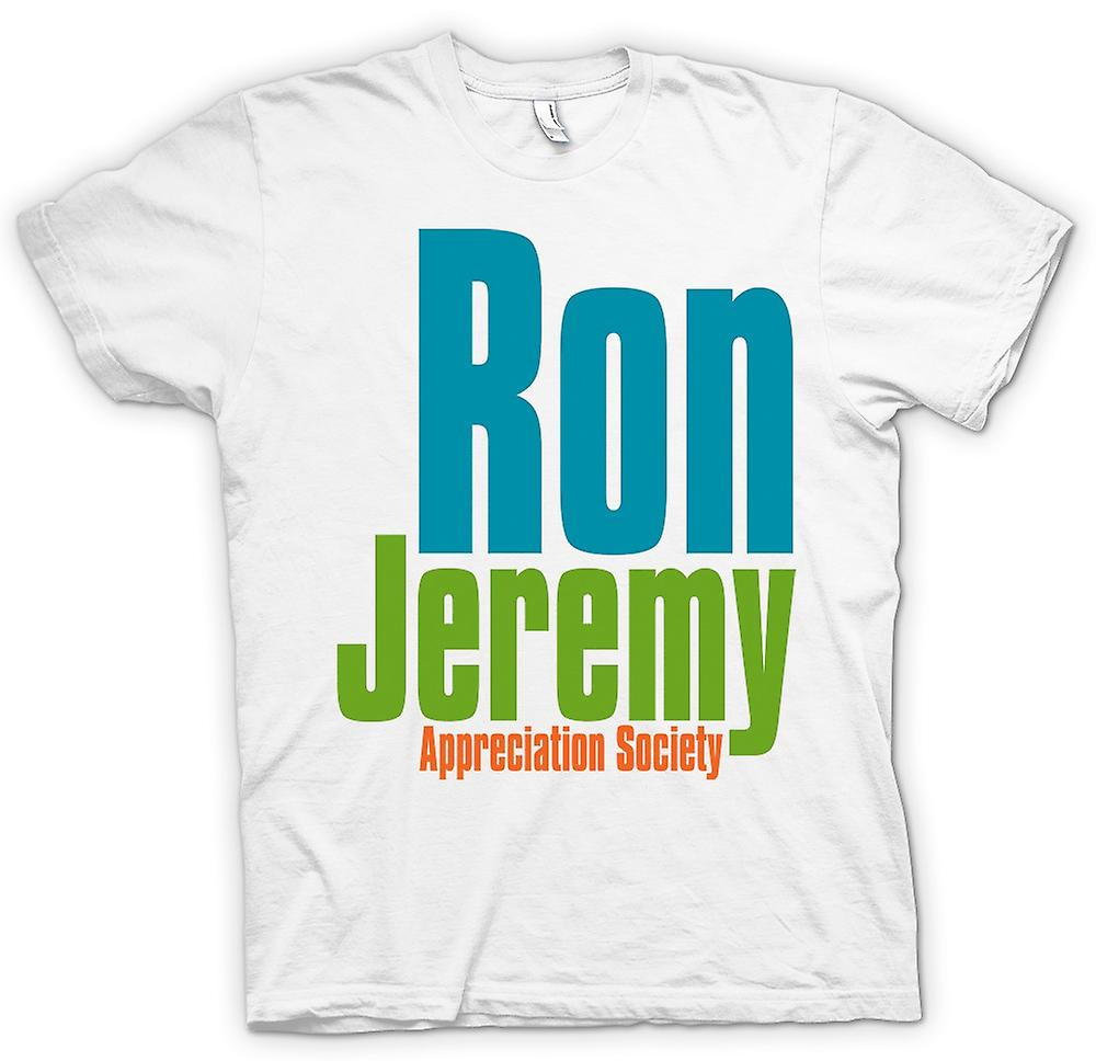 Mens t-skjorte - Ron Jeremy Appreciation Society - Funny