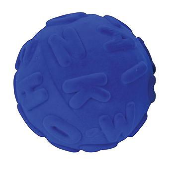 Rubbabu Soft Plush Alphalearn Ball Uppercase (Blue) Sensory Squishy Baby Toddler