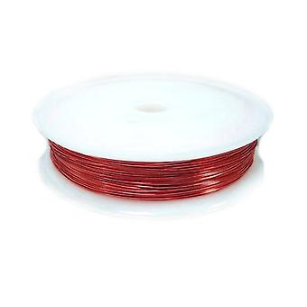1 x Red Plated Copper 0.8mm x 3m Round Craft Wire Spool HA16205