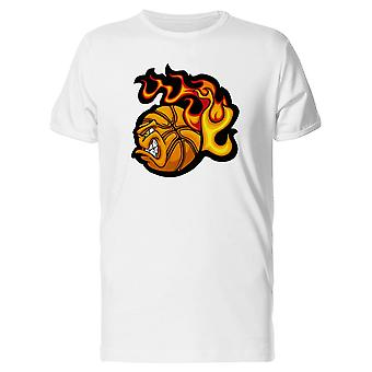 Flaming Basketball Ball Face Tee Men's -Image by Shutterstock