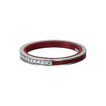 Esprit Damen Ring Silber Marin Zirkonia rot ESRG91939C1