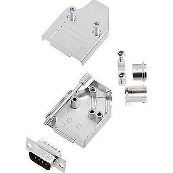 encitech MHDM35-09-DMP-K D-SUB pin strip set 45 ° Number of pins: 9 Solder bucket 1 Set