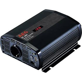 AEG ST 500 500 W omvormer 12 Vdc - 230 V AC Incl. afstandsbediening