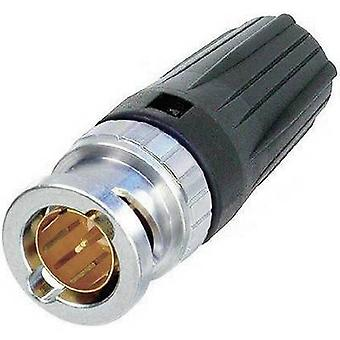 BNC connector Plug, straight 75 Ω Neutrik NBTC75BFI4 1 pc(s)