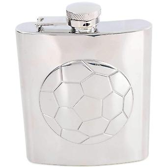 David Van Hagen 6oz Football Stainless Steel Hip Flask - Silver