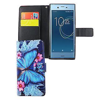Mobiele zaak zak voor mobiele telefoon Sony Xperia XZs blauwe vlinder