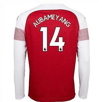 2018-2019 Arsenal Puma Home Long Sleeve Shirt (Aubameyang 14)