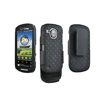 OEM Verizon Samsung Continuum Galaxy S SCH-i400 Shell/Holster Combo (Black) (Bul
