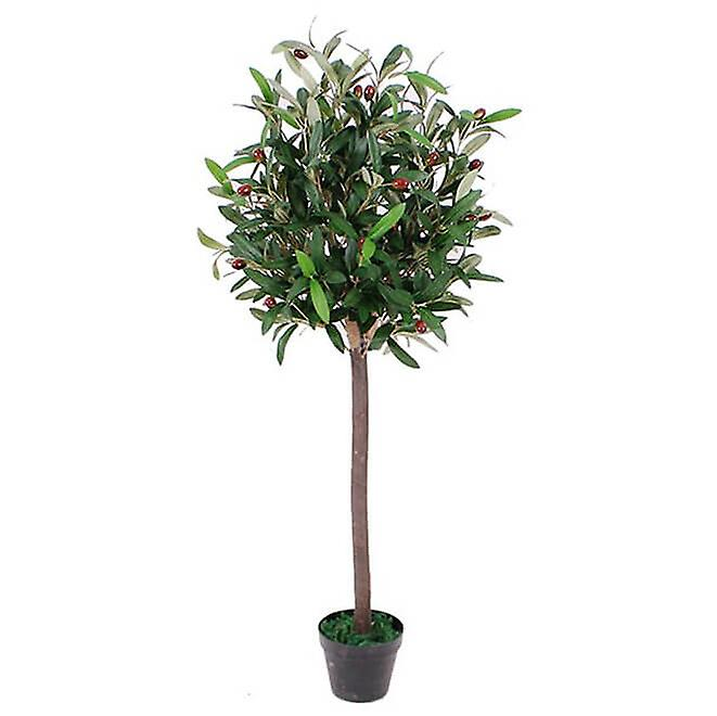 90cm Artificial Olive Bay Style Topiary Fruit Tree