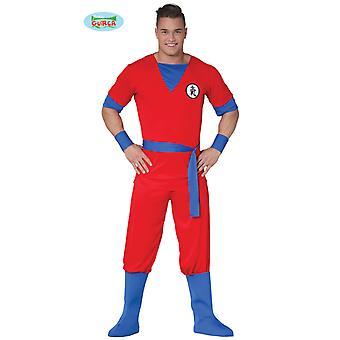 Generique - red manga fighter costume for men Carnival anime