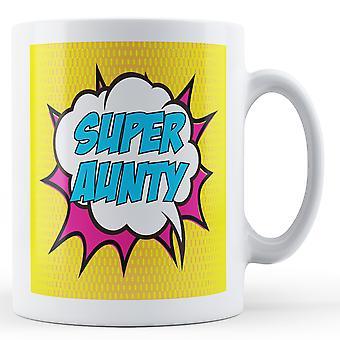 Super Aunty Pop Art Mug - Printed Mug