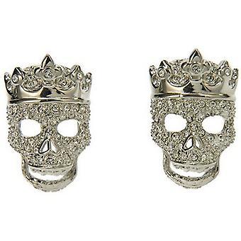 Simon Carter Crowned Skull Cufflinks - Clear