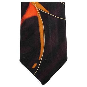 Corbatas de Knightsbridge agua remolino patrón Tie - marrón/naranja