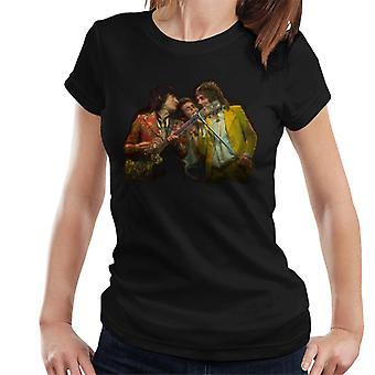 TV Times Faces Rod Stewart And Ronnie Wood Women's T-Shirt