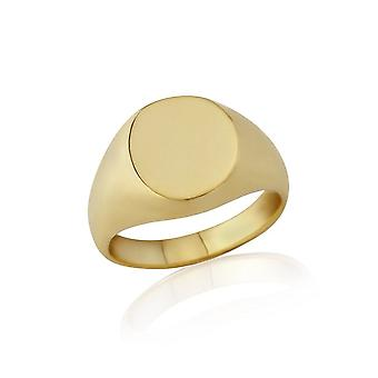 Star Wedding Rings Oval-Shaped 9ct Yellow Gold Extra-Heavy Weight Signet Ring