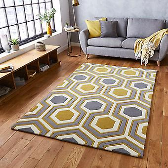 Rugs -Hong Kong Hexagon - HK3661 Grey / Yellow