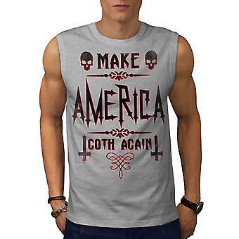 Make America Goth Men GreySleeveless T-shirt | Wellcoda
