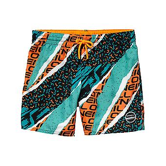 ONeill Black Aop-Yellow Strike Out Kids Boardshorts
