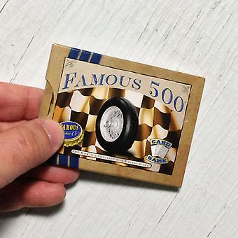 Famous 500 car racing card game