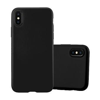 Cadorabo case for Apple iPhone X / XS - mobile cover from TPU silicone in the matte metallic design - silicone case cover ultra slim soft back cover case bumper
