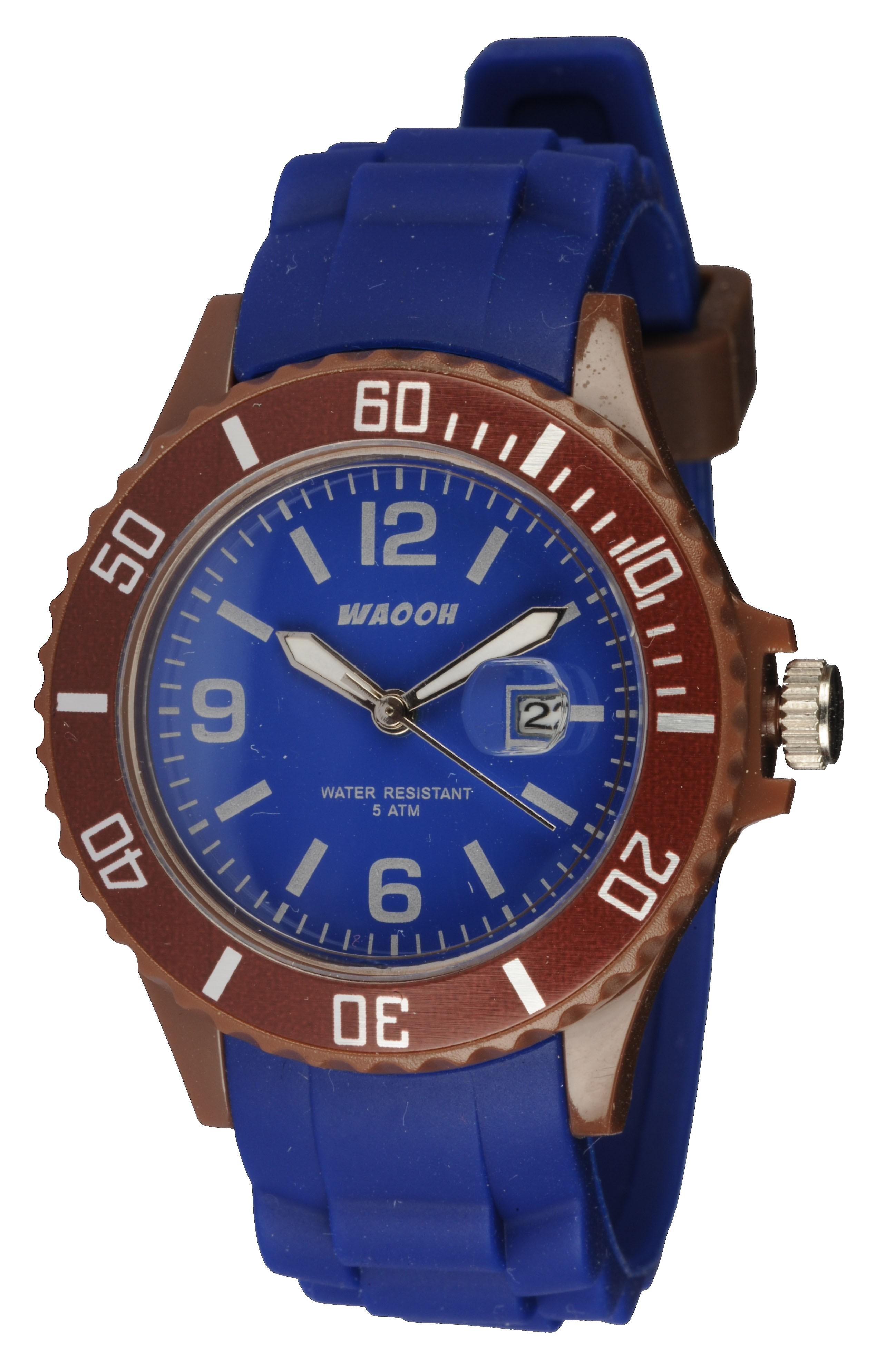 Waooh - Monaco34 Watch - Two Tone Brown &