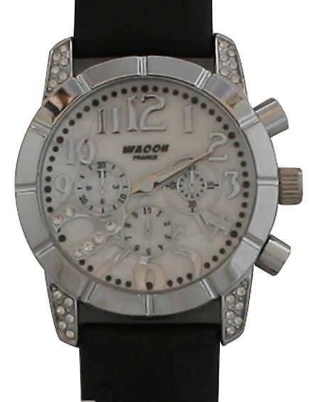 Waooh - Waooh 03873A Leather Strap Black & White 1