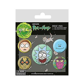 Rick and Morty Badge Pack Character Heads new Official 5 pack