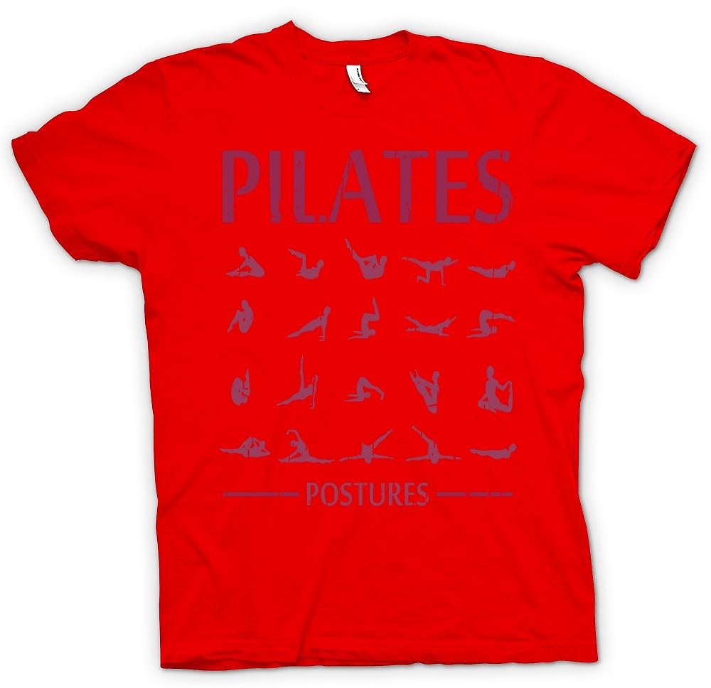 Mens T-shirt - Pilates Postures - Core Fitness