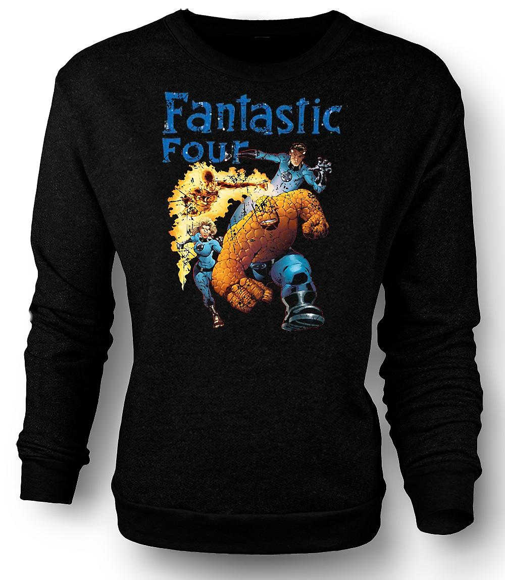 Mens Sweatshirt Fantastic Four - komiska Super hjälte