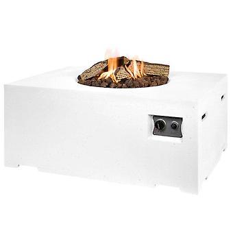 Happy Cocooning udendørs pejs rektangel 100x80xH46 cm-hvid
