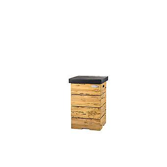 Happy Cocooning Driftwood bijzettafel LPG 41x41xH62 cm - zwart