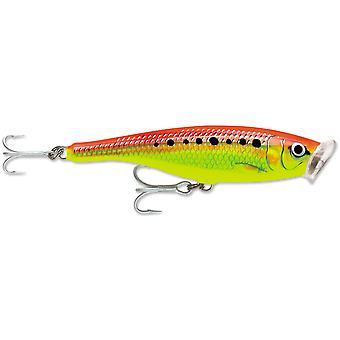 سكيتير Rapala إغراء الصيد البوب المياه المالحة 12-أخضر مصفر النار