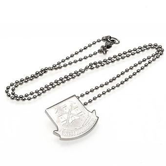 West Ham United Stainless Steel Pendant & Chain CT LG