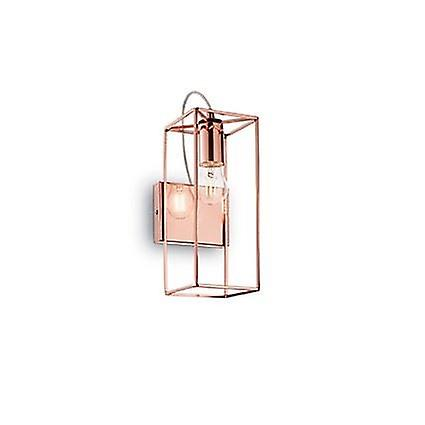 Ideal Lux - Volt Copper Finish Wall lumière With Clear Glass IDL137117