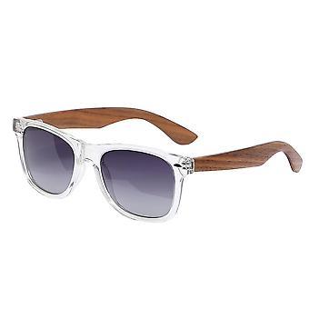 Aspect brillen bamboe wayfarer zonnebril gepolariseerd