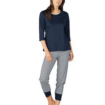Conjunto de pijama de algodón a rayas de Paula Mey 13951 de la mujer