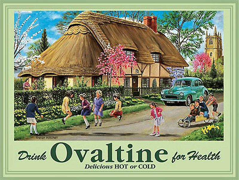 Ovaltine Advert steel wall sign  (og)