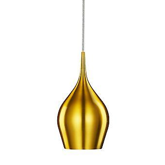 Lámpara colgante aluminio oro vibrante pequeña sola - reflector 6461-12GO