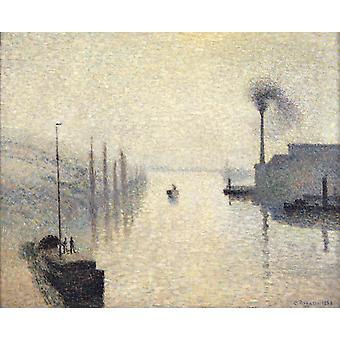 L-lle Lacroix, Rouen, Camille Pissarro, 50x40cm