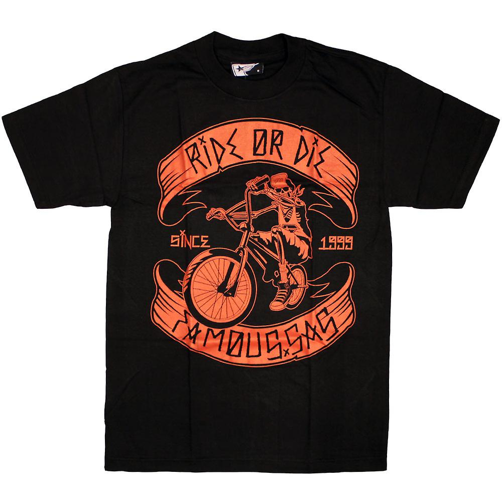 Famous Stars and Straps Ride or Die T-Shirt Black Red