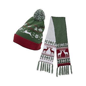 Urban Classics Unisex Mütze- und Schal-Set Christmas