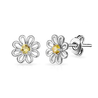 Daisy stud earrings created with swarovski® crystals