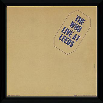 Den som Leeds inramade Album täcka Print 12x12in
