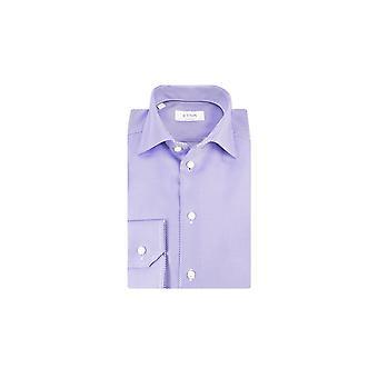 Eton Contemporary Fit Shirt Lilac Cross Stripe