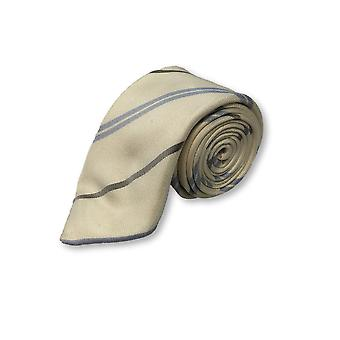 Pal Zileri tie in cream with blue stripes