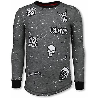 Longfit Embroidery-Sweater Patches-Rockstar-Black