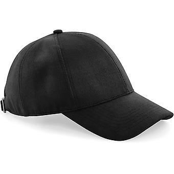 Beechfield-faux mocka 6-panel keps-hatt