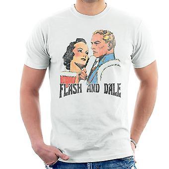 Flash Gordon And Dale Distressed Men's T-Shirt