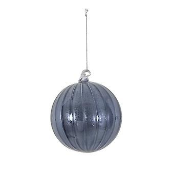 Light & Living Christmas Bauble Round Ø10 Cm BALL Glass Shiny Blue